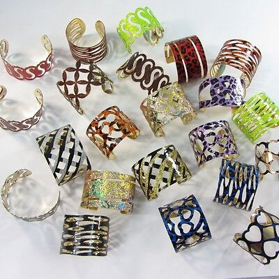 US SELLER-lot of 10 wholesale bracelet cuff fashion jewelry wide bangles