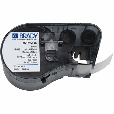 Brady Label Cartridge M-152-499 Nylon Cloth Black On White