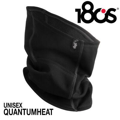 180S Thermal Neck Gaiter Face Warmer Mask Black For Running Skiing Men Women