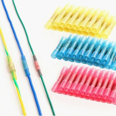 100pcs Assorted 22-10 Heat Shrink Butt Electrical Wire Crimp Terminal Connectors