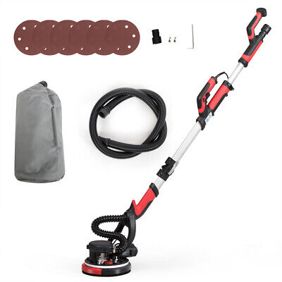 Electric Drywall Sander 750w Adjust Variable Speed W Vacuum Attachment Light