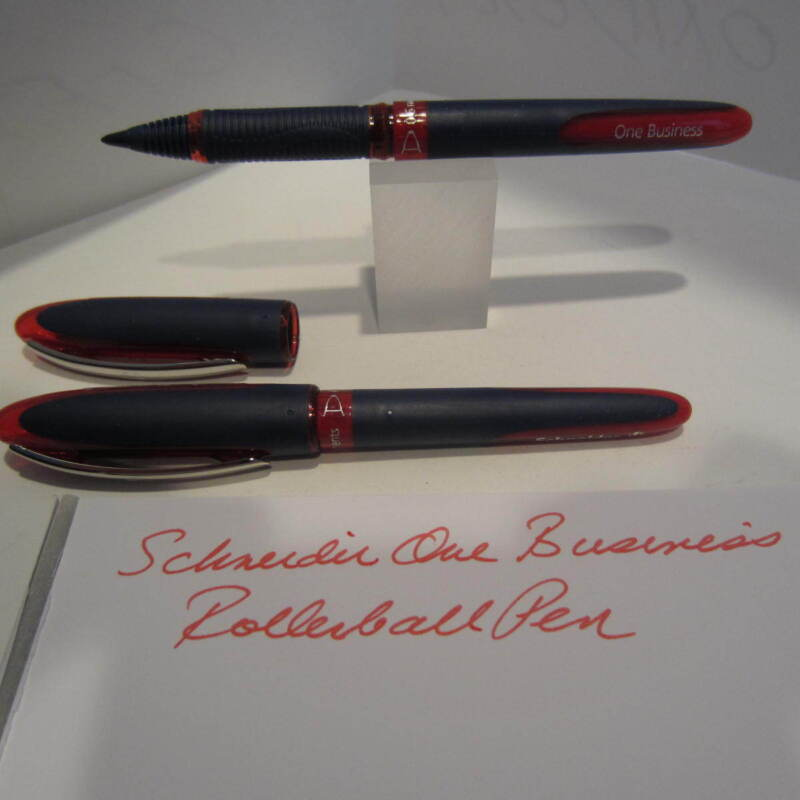 2 RED Schneider One Business Rollerball Pen-Waterproof,Smooth Writing