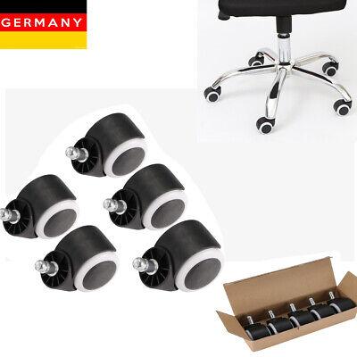 5 Stück Stuhlrollen für Hartboden und Teppichboden Bürostuhl Floor Chair Rollers ()