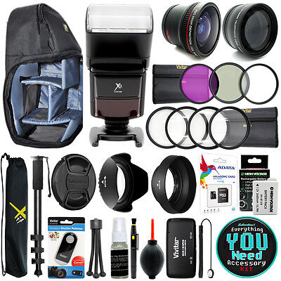 Canon T3i T5i T4i T2i DSLR Kamera Alles You Need 58MM Zubehörset Bündel ()