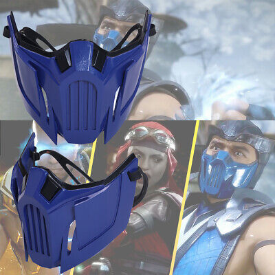 Mortal Kombat 11 Sub-Zero Cosplay Mask Resin Costume Prop Blue Game MK 11 Xcoser