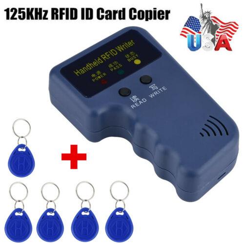 Handheld RFID ID Card Copier Key Reader Writer Duplicator 125KHz+5PCS Tags US Access Control Equipment
