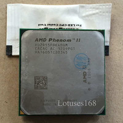 AMD Phenom II X4 955 3.2 GHz Quad-Core Black Edition Processor AM3 AM2+ 125W CPU