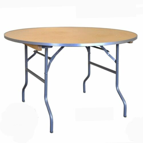 """48"""" Round Dining Table Wedding Banquet Business Folding Wood Restaurant Table"""