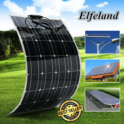 USA 100W 18V Mono Solar Panel Semi-flexible Off-Grid Battery Charge For RV Boat