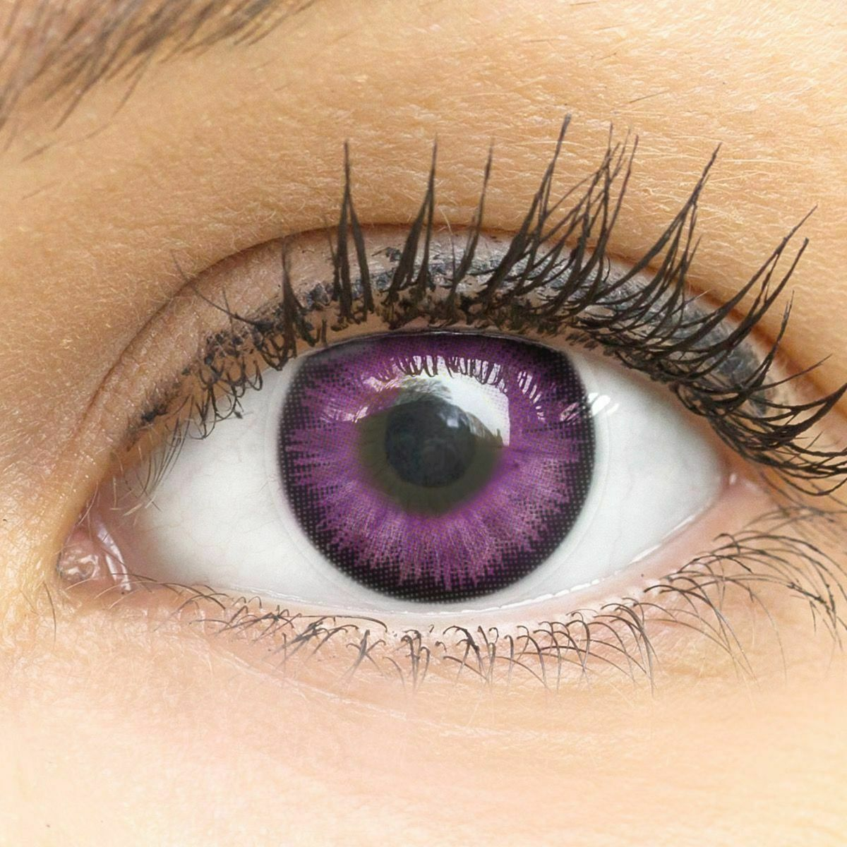 Farbige lila Kontaktlinsen farbig Big Eyes IVY VIOLET Anime Cosplay Manga SALE%%
