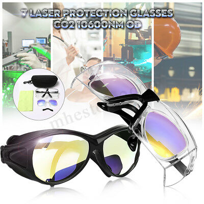 Co2 Laser Protection Goggles Safety Glasses 10600nm Od7 Double Layer Eyewear