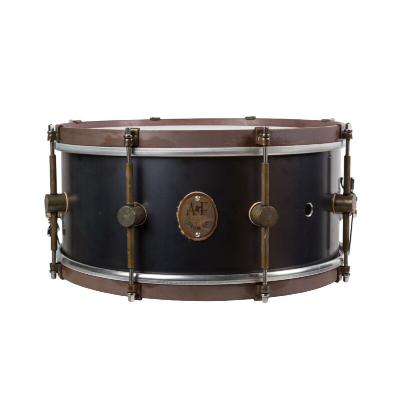 "A&F Drum Company 6.5""x14"" Black Aluminum Snare Drum"