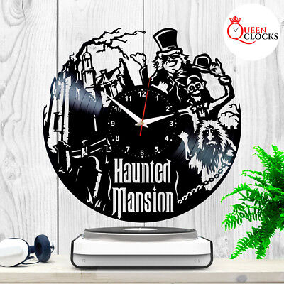 The Haunted Mansion Disney Vinyl Record Wall Clock Disneyland Decor Best Gifts