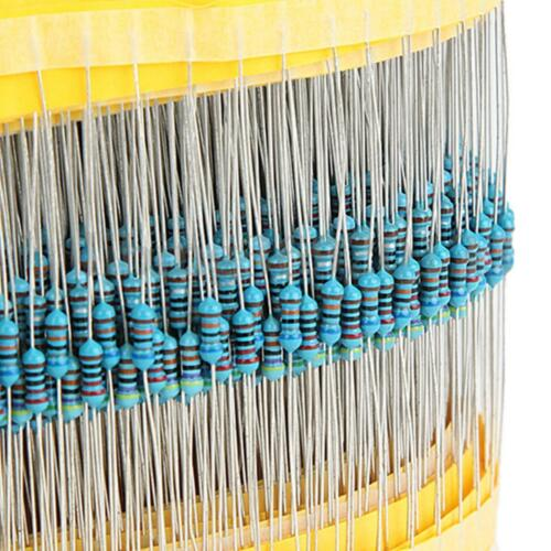 600 Pcs 30 Values 1/4W 1% Metal Film Resistors Resistance Assortment Kit Set US