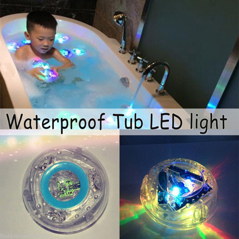 Bathroom Tub LED Color Changing Light Kids Baby Fun Toys Waterproof In Bath Time