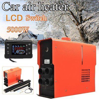 12V Air Diesel Heater 5000W 4 Holes LCD Monitor PLANAR For Trucks Boats Bus Car