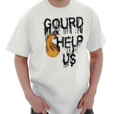 Gourd Help Us Halloween Gift Spooky Trick Treat Haunted Cool Classic T Shirt Tee