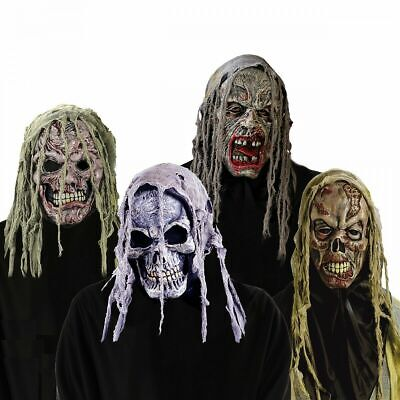 Scary Zombie Masks (Zombie Masks Adult Scary Skeleton Crypt Creature Costume)