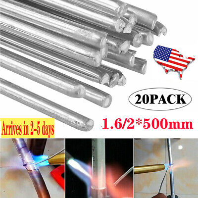 1.62500mm Solution Welding Flux-cored Rods 20pcs Aluminum Wire Brazing Welding