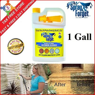 1gal Spray and Forget Revolutionary House Deck Roof Cleaner Concentrate Cleaning