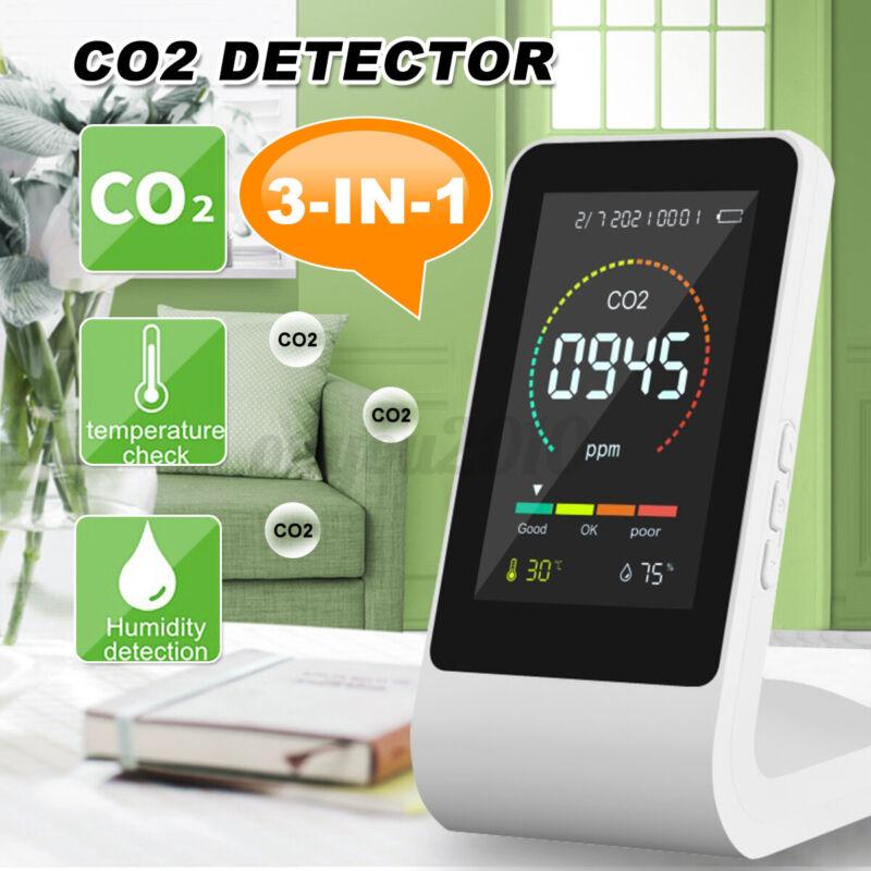 TVOC CO2 Monitor Meter Air Quality Detector Digital Temperature Humidity Tool