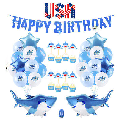 Under The Sea Birthday Supplies (Baby Shark Party Supplies Decorations - 40 Pieces under the sea party)
