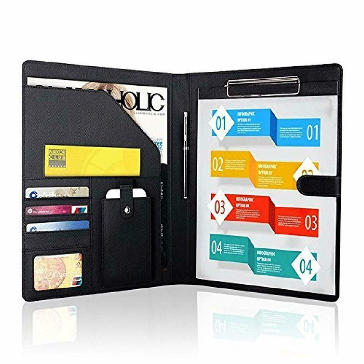 Padfolio Business/Resume Portfolio, AHGXG Leather Folder wit