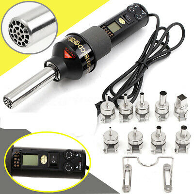 Durable 220v110v 450w Lcd Display Hot Air Heat Gun Soldering Station 9xnozzle
