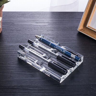 Office Supplies Crystal Fountain Pen Holder Desktop Organizer Student Gift