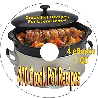 470 Crock Pot Recipes   Cathead Biscuits  Chicken Wings  Christmas Cookies  1 Cd