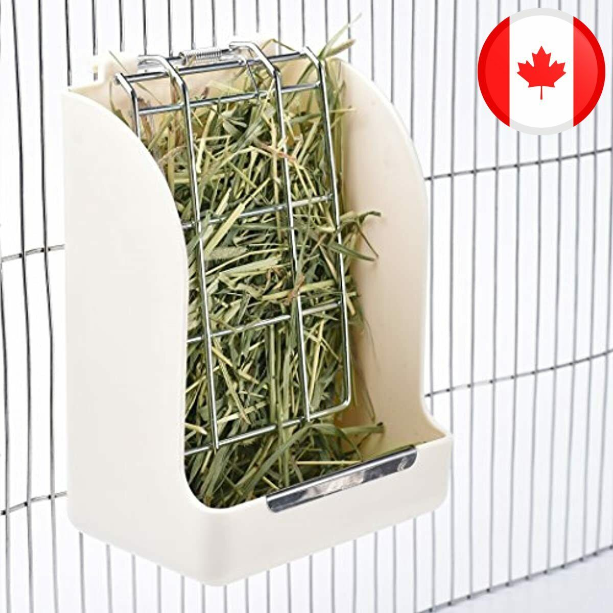 CalPalmy Hay Feeder For Rabbits, Guinea Pigs, And Chinchillas - Minimize Waste A - CA$29.99