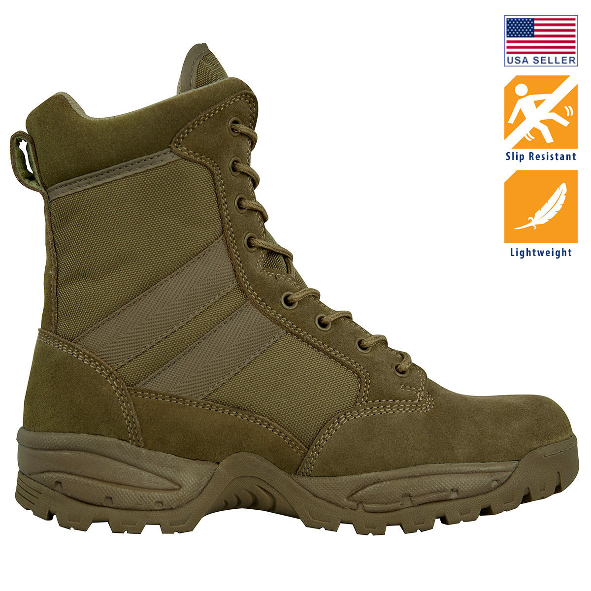 Boots - Maelstrom® TAC FORCE 8'' Coyote Brown Military Tactical Work Boots