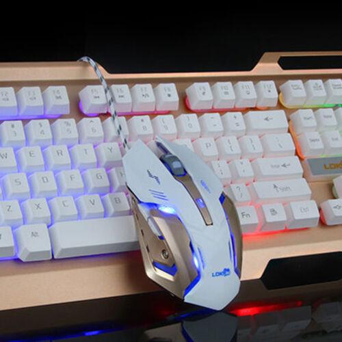 Colorful Crack LED Illuminated Backlit USB Wired PC Rainbow Pro Gaming Keyboard