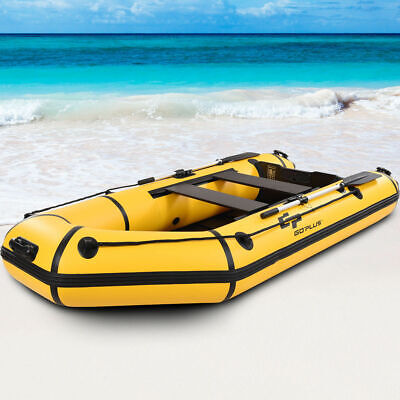 Goplus 4-Person 10FT Inflatable Dinghy Boat Fishing Tender Rafting Water (Water Sports Fishing Boat)
