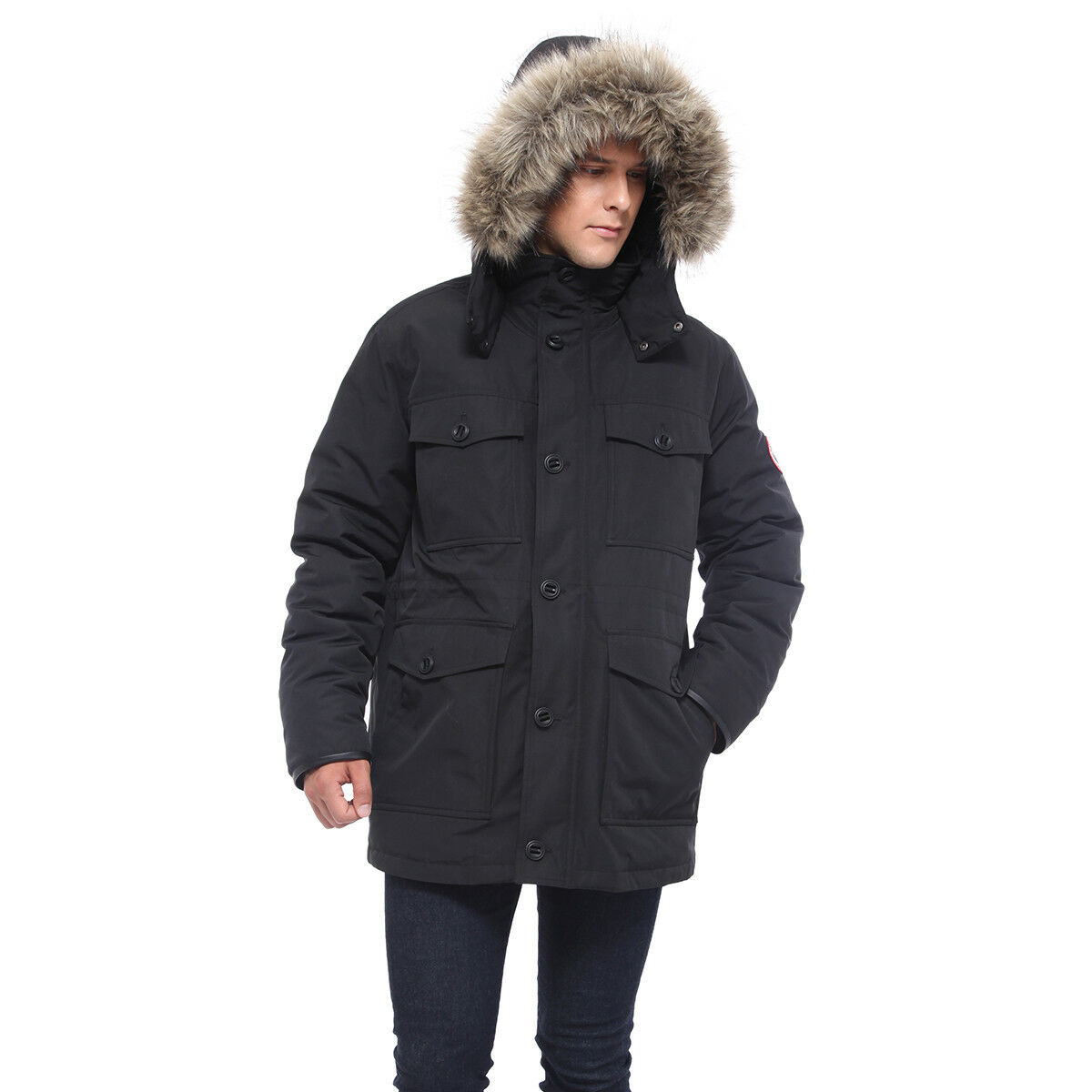 Men's Water-Resistant Heavy Insulated Thickened Warm Parka J