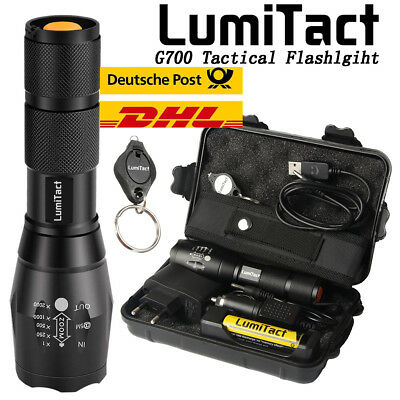 20000lm echte Lumitact G700 CREE L2 LED taktische Taschenlampe Military Torch Led Torch Lampe