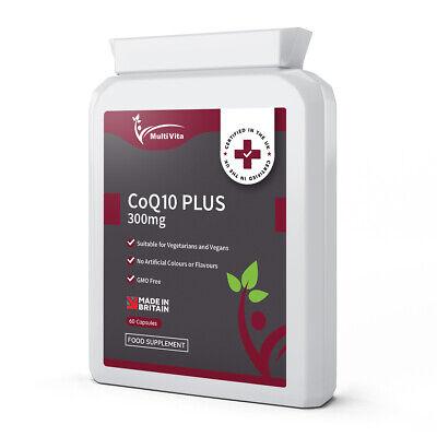 Co-Enzyme Q10 CoQ10 300mg 60 Vegan Capsules - Naturally Fermented - Antioxidant