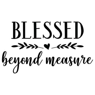 (Blessed Beyond Measure Vinyl Wall Graphic Decal Sticker)