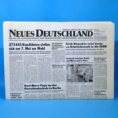 DDR Neues Deutschland 03.05.1989 Mai Zum Geburtstag Hochzeitstag 29. 30. 31. 32