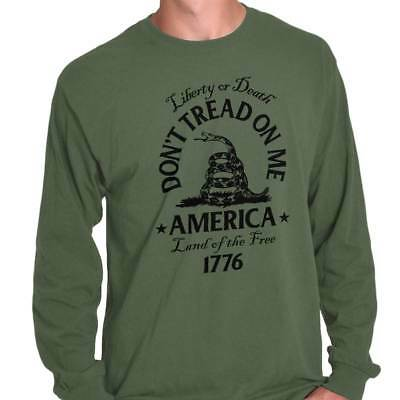 Gadsden Flag Dont Tread On Me Culpeper USA Patriot Gift POTUS Long Sleeve Tee ()