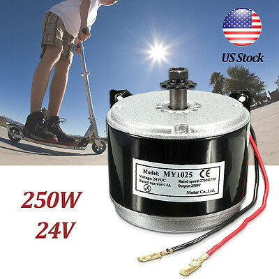 250W 24V DC Electric Motor Brushed 2750RPM Chain For E Bike Scooter MY1025 - E-bike Scooter