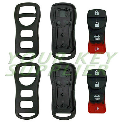 2 New Replacement Remote Keyless Case Button Rubber Pad Shell for Nisssan 314-NI