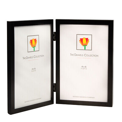 """Double Vertical Standing Hanging Picture Frame 4x6"""" Photos Glare Resistant (Glare Resistant Glasses)"""
