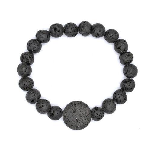 Black Lava Bead Diffuser Scent Bracelet Yoga Essential Lava