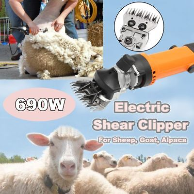 690w Sheep Goat Alpaca Clipper Electric Shearing Farm Machine Wool Clipper