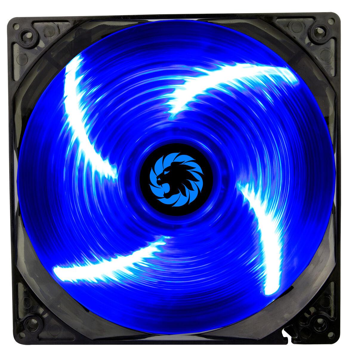 Game Max Sirocco 4 X Blue Led 120mm Fan Pc 12cm Case Fan