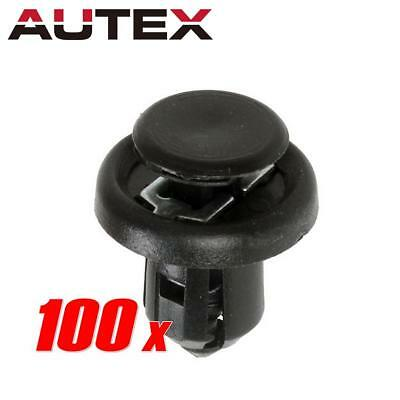 100x Push-Type Nylon Bumper Metal Clips Retainer 20x13x10mm for Honda Acura