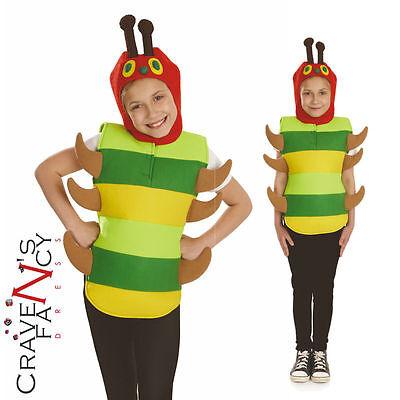Child Very Hungry Caterpillar Costume Book Week Boys Girls Bug Kids Fancy Dress