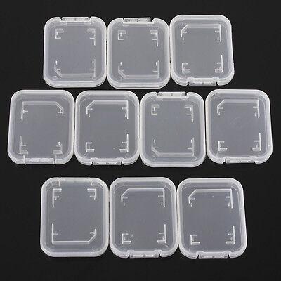 5Pcs SD SDHC Memory Card Case Holder Box Storage Hard Plastic Transparent Holder
