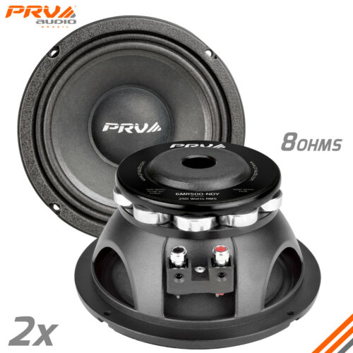 "2x PRV Audio 6MR500-NDY Midrange Neodymium 6.5"" Speakers 8 Ohms 6 PRO Neo 1000W"